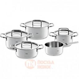 Набор посуды из нержавеющей стали из 4-х кастрюль с крышками и ковша Fissler \ 8611205