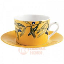 """Фарфоровая чайная чашка """"Веточки"""" 220 мл Guy Degrenne \ 121528"""