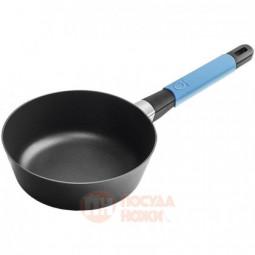 Алюминиевый сотейник с антипригарным покрытием для индукционных плит 1 л 20 см черный/голубой Squality \ 37220a