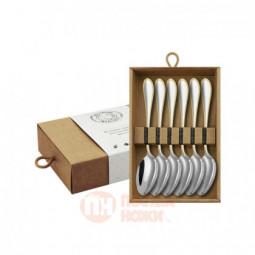 """Набор чайных ложек """"Капелька"""" с позолотой 6 предметов Кольчугино \ КМ0420602"""