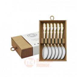 """Набор чайных ложек """"Лира"""" с позолотой  6 предметов Кольчугино \ С211608"""