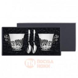 """Набор из 2 чайных посеребренных  чашек """"Натюрморт"""" \ КМ3550406"""