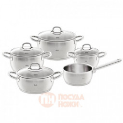 Набор посуды Valea из 4-х кастрюль с крышками и ковша Fissler \ 3311505