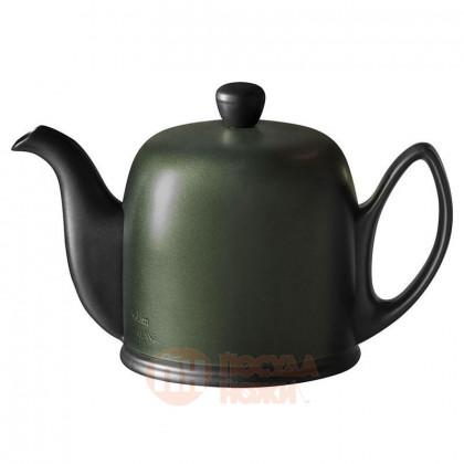Фарфоровый заварочный чайник Salam с алюминиевым колпаком 700 мл хаки/черный Guy Degrenne \ 240125