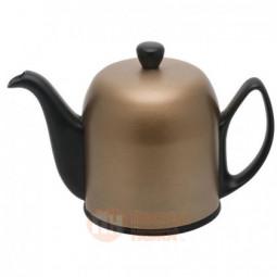 Фарфоровый заварочный чайник Salam с алюминиевым колпаком 700 мл бронзовый/черный Guy Degrenne \ 237414