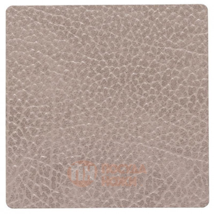 Подставка под кружки и стаканы из натуральной кожи 10 х 10 см серо-бежевый (Warm Grey) LIND DNA \ 990228