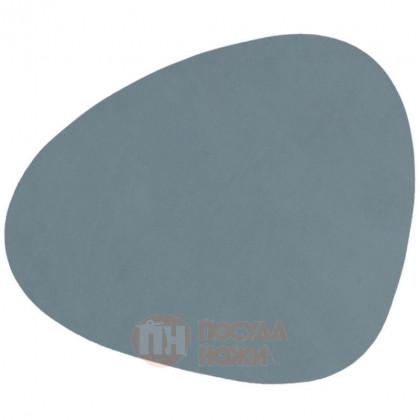 Подставка фигурная под кружки и стаканы из натуральной кожи 13 х 11 см голубой (Light Blue) LIND DNA \ 982495