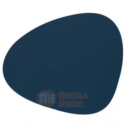 Подставка фигурная под кружки и стаканы из натуральной кожи 13 х 11 см темно-синий (Midnight Blue) LIND DNA \ 991146