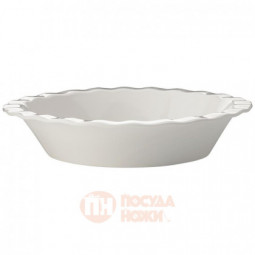 Фарфоровая форма для пирога 25 см белый Maxwell&Williams \ MW451-AW0266