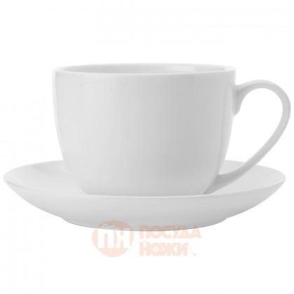 Чайная пара из костяного фарфора 280 мл белый Maxwell&Williams \ MW583-BC1884