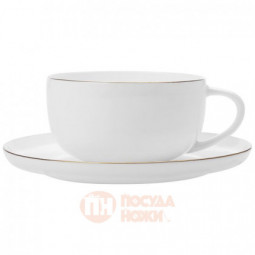 Чайная пара из костяного фарфора 300 мл белый Maxwell&Williams \ MW583-EF0116