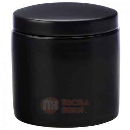 Фарфоровая банка для сыпучих продуктов 600 мл черный Maxwell&Williams \ MW451-IA0051