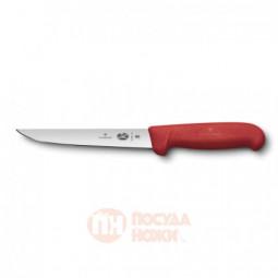 Нож обвалочный VICTORINOX Fibrox с прямым лезвием 15 см красный \ 5.6001.15