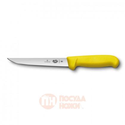 Нож обвалочный VICTORINOX Fibrox с прямым лезвием 15 см жёлтый \ 5.6008.15
