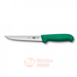 Нож обвалочный VICTORINOX Fibrox с прямым лезвием 15 см зелёный \ 5.6004.15