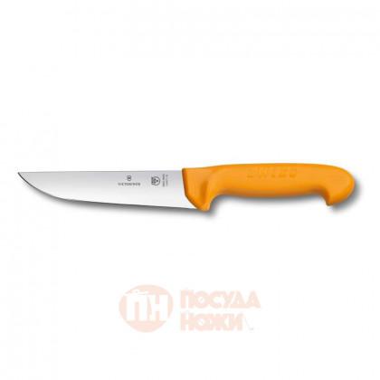 Нож мясника / нож для забоя VICTORINOX с лезвием 18 см жёлтый \ 5.8421.18