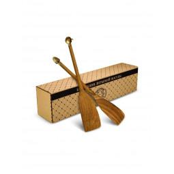 """Набор из 2 деревянных лопаток с накладками """"Яблоко"""" и """"Клубника"""" в коробке Кольчугино \ КМ514НБ01_К"""