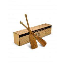 """Набор из 2 деревянных лопаток с накладками """"Чеснок"""" и """"Перец"""" в коробке Кольчугино \ КМ513НБ01_К"""